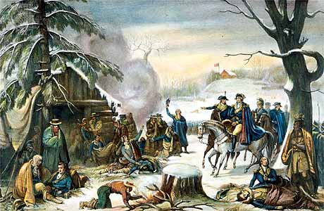 George Washington at Valley Forge, 19th Century lithograph